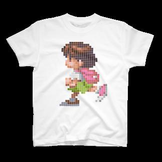 ドローラインの海腹川背 ドット絵 Tシャツ