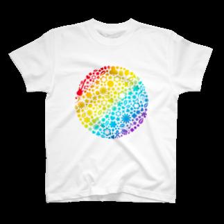 でざいん屋 イチヤードのRainbow world T-shirts