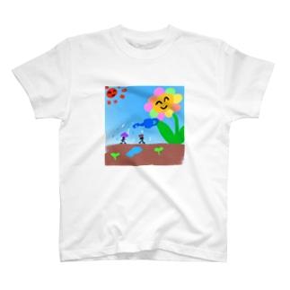 お花の水やり T-shirts