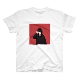 無気力カップル-RED2- T-shirts