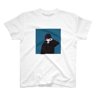 無気力カップル-BLUE2- T-shirts