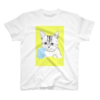 花束猫 T-shirts