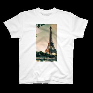 Mokusakuのtower T-shirts