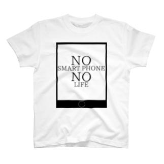 スマホ依存症 T-shirts