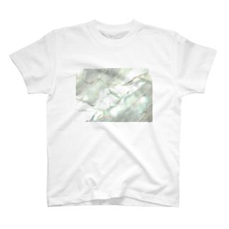 水彩絵の具で描いた大理石 T-shirts