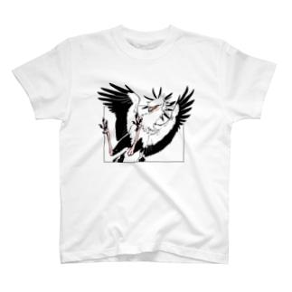 ヘビクイワシ(カラー) T-shirts