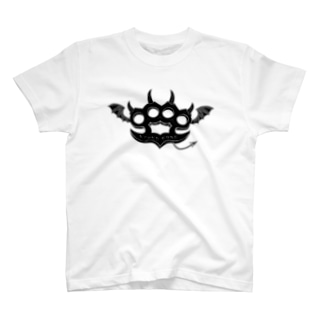 Ryoku-Knuckle devil b-white T-shirts