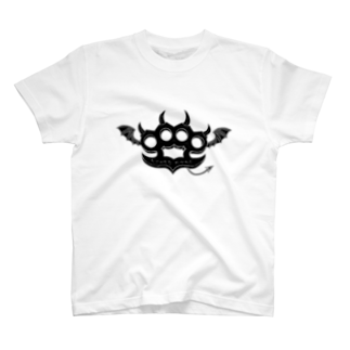 Ryoku のRyoku-Knuckle devil b-white T-shirts