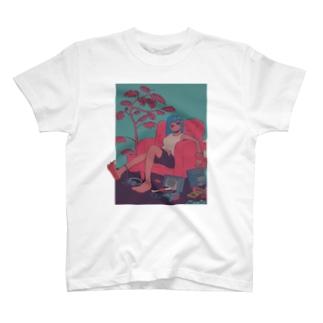 投げ出しレッグGIRL T-shirts