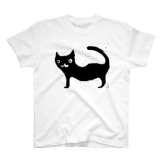 黒い猫 T-shirts