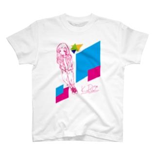 h*red series-KuRo*girl柄- T-shirts
