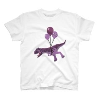 ケータ🦕恐竜イラストレーターのカルノサウルス・Tシャツ T-shirts