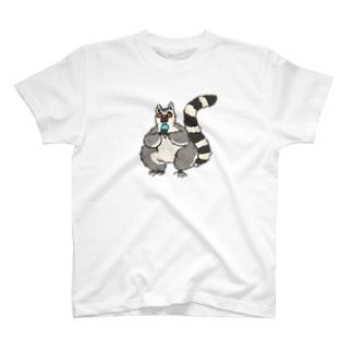 みzooのアイスクリームなキツネザル T-shirts