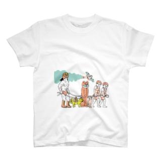 電車ごっこ T-shirts
