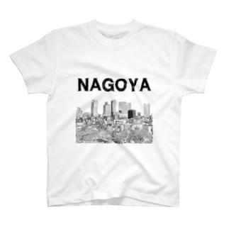 The City 名駅摩天楼 T-shirts