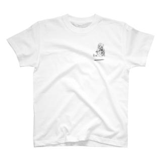旅人スキップ(左胸) T-shirts