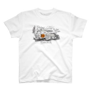 ばんやのブーブーレーシング モノトーンプラス T-shirts