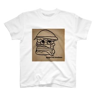 honohonoくん 背景ブラウン T-shirts