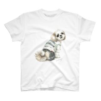 Momojiの犬画のシーズー46 T-shirts