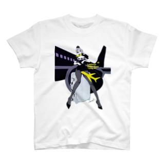 LCC BLACK PIN UP 超美脚 T-shirts