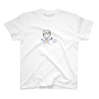 谷口力斗選手といせしまおくん T-shirts