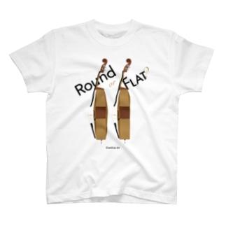 Round or Flat? T-shirts