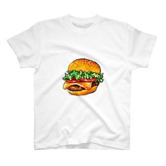 テイクアウトしたくなるハンバーガー T-shirts