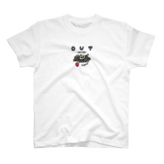 ドッジボール ガイコツアウト T-shirts
