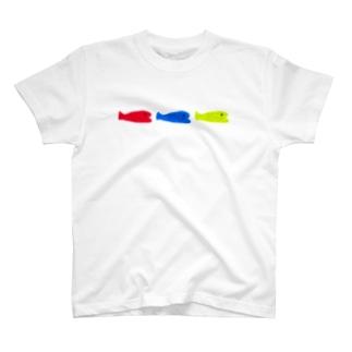 小魚 × 3 + おめかし T-shirts
