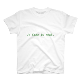 // Code is real. T-shirts