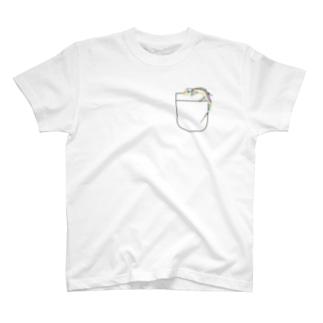 ポケットトカゲ T-shirts