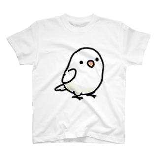 Chubby Bird ボタンインコ T-shirts