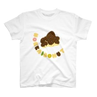 ほっかいどーなつ/曲線 T-shirts
