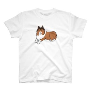 立ち耳シェルティ T-shirts