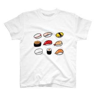 かっぱのありふれた人生のお寿司だいすき T-shirts