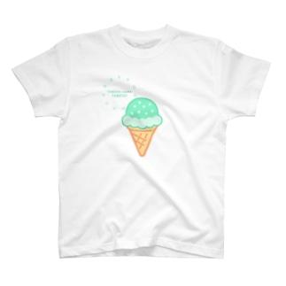アイス食べたい🍦ラムネソーダ T-shirts