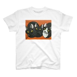 3匹の子猫 Tシャツ T-shirts
