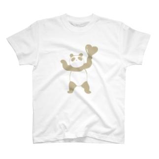 ハッピーぱんだ(ナチュラルカラー) T-shirts