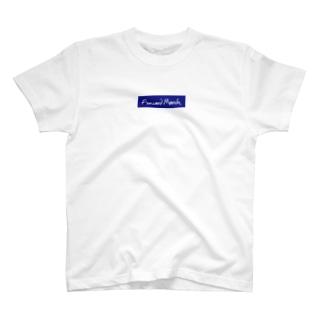 Fwmarch青ボックスロゴ T-shirts