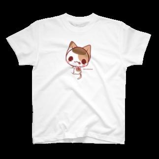 aska/ねこのかんづめのぎゅっとみけにゃん T-shirts