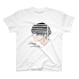バーコード男子 T-shirts