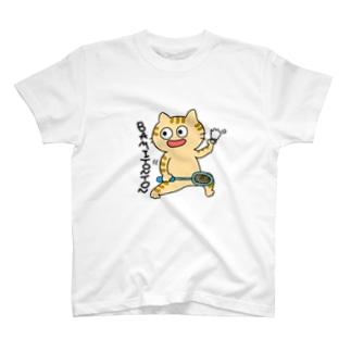 バミトントンねこ トラ T-shirts