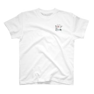 バミトントねこ シロ T-shirts