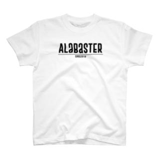 AlabasterロゴTXT(黒文字) T-shirts