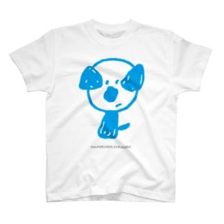 mamoruken(まもるけん!) blue T-shirts