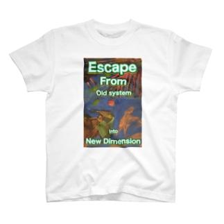 LoveUnivershityのT-shirt escape T-shirts
