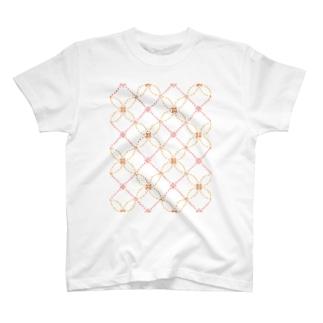sasiko-変わり七宝(花)- T-shirts