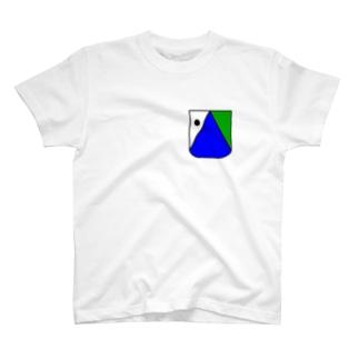 さかなロゴ ぽっけ T-shirts