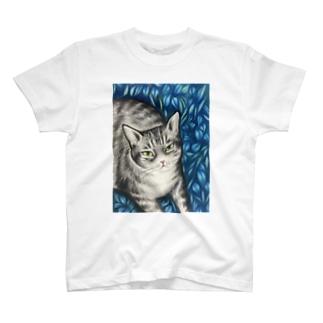 hosoikoroの葉っぱの猫 T-shirts