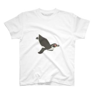 ぺんぎんぽたぽたの泳ぐフンボさん T-shirts